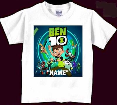 Ben 10 Personaliz​ed Birthday T-Shirt Gift New Ben Ten Boys Kids Party Favor