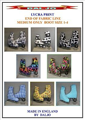 Ice Skating / Roller Skating  Lycra Print Boot Covers Medium Only Fabric End