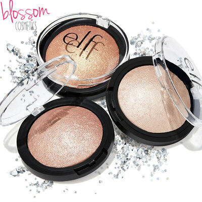 E.L.F ELF BAKED HIGHLIGHTER BLUSHER HIGHLIGHTING PRESSED POWDER Moonlight, Pink