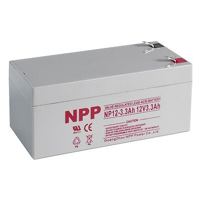 NPP  NP12-3.3Ah  12V 3.3Ah Sealed Lead Acid  Battery replaces RBC35 WP3-12