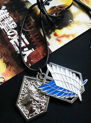 Attack on Titan 2 Charm Necklace USA SELLER!!! FAST SHIPPING!