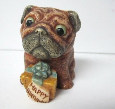 Pug Happy Birthday Trinket Box