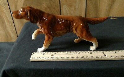 VINTAGE LEFTON  IRISH SETTER Dog Glossy WITH LEFTON Red Foil Sticker