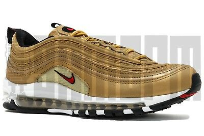 03f285485f NIKE AIR MAX 97 OG QS 6 7 8 9 10 11 GOLD BULLET silver undefeated ...
