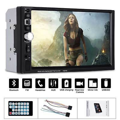"""7"""" Car Touch Screen Stereo Radio MP5 MP3 Player Bluetooth USB AUX In Dash 2DIN"""