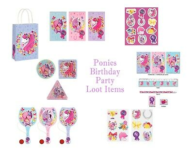 Unicorn Party Loot Bag Boxes Filler Toys Favours Games Balloons Stickers etc