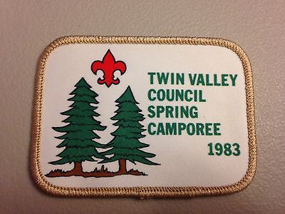 BSA Twin Valley Council - 1983 Spring Camporee (Woven Patch)