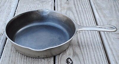 "Vintage Cast Iron 8"" WAGNER WARE #5 NICKEL~PLATED SKILLET #1055B"