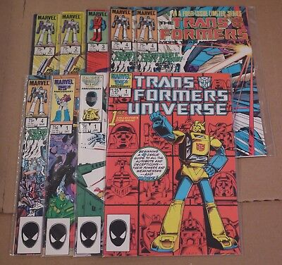 Transformers Limited Series 2(x2),3,4 (x3) The Movie 1 Universe 1 G.I. Joe 1