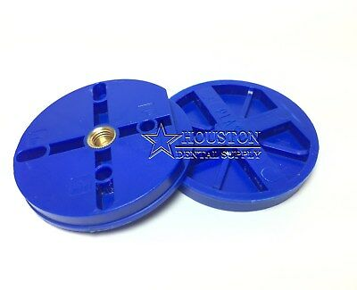 Dental Articulating Mounting Plates ROUND BLUE 6 Pcs Heavy Duty Plastic Material