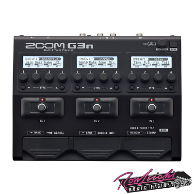 Zoom G3n Multi Effects Guitar Pedal and Amp Simulator w/ Rhythms and Looper