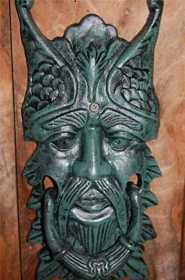 HUGE Antique style Cast Iron GREEN MAN Door Knocker etc Gargoyle Celtic Greenman