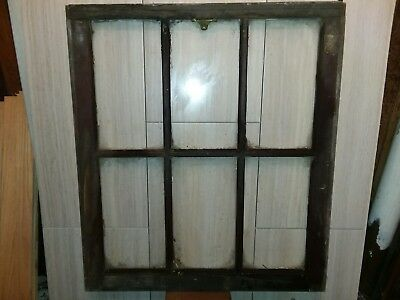 Antique 6 Lite Wood Casement Window Sash Vintage French Country Shabby Cottage
