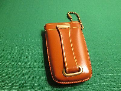 Vintage Leather Clip-On Key Chain