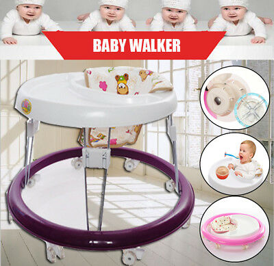 Baby Walker Foldable Infant Comfy Seat First Step Activity Walking Tool