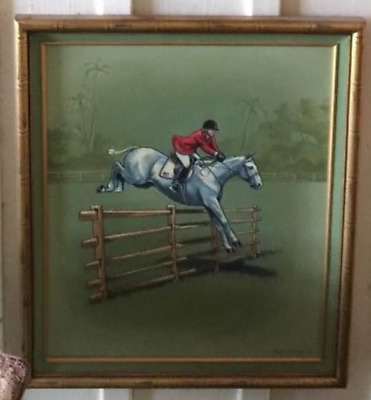 National Horse Show - Original Oil Painting - Signed by Artist Linda Luster