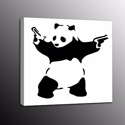 Canvas Print Banksy Art Panda Picture Street Art Wall Art Painting Home Decor