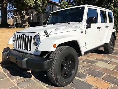 2015 Jeep Wrangler Sahara Unlimited ahara Unlimited X Edition Rare 6-Speed Hard Top Alpine Leather Low Miles