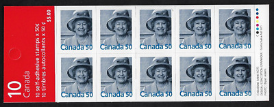 Canada Stamps - Booklet Pane of 10 - Queen Elizabeth II #2075a (BK301) - MNH