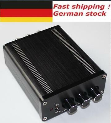 TPA3116 2.1 HIFI amplifier aluminium chassis box with knobs for DIY
