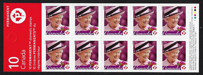 Canada Stamps - Booklet Pane of 10 - Queen Elizabeth II #2188a (BK340) - MNH