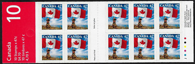 Canada Stamps — Booklet Pane of 10 — 2000, Flag over Inukshuk #1700a (BK236) MNH