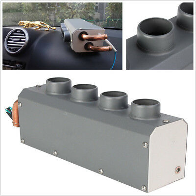 12V 4 Holes Ports Iron Compact Car Underdash Heater Heating Defroster Demister