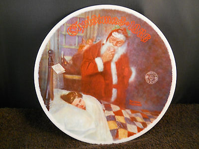 "1986 Norman Rockwell ""deer Santy Claus"" Collector Plate-Knowles -W/coa"