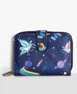 Lindy Bop Galaxy Unicorn Wallet Retro Rockabilly Pin Up Kawaii Organiser Purse