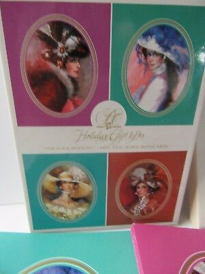 Avon 1990 Holiday Gift Victorian Mrs Albee The Four Seasons Note Cards Envelopes