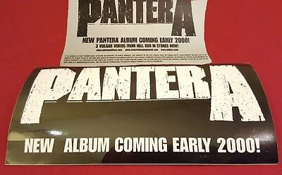 Official Pantera 1999 Promotional Sticker Print Reinventing The Steel CD Ozzfest