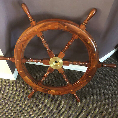 Ships / Boat / Yacht Wheel Like New Timber Wooden