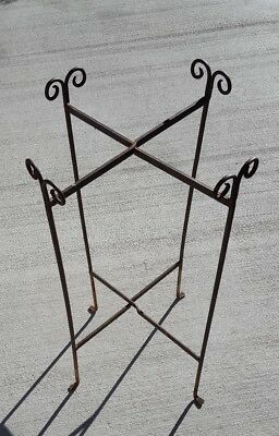 Vintage Iron Plant Stand - Collapseable