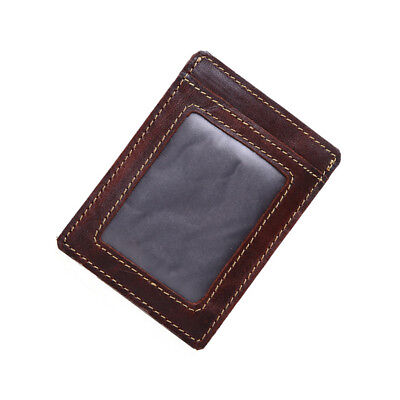 Mens Genuine Leather Wallet Credit Card ID Holder Front Pocket Thin Slim NEW
