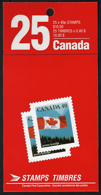 Canada Stamps — Booklet Pane of 25 — Flag over Mountains #1669a (BK125) — MNH