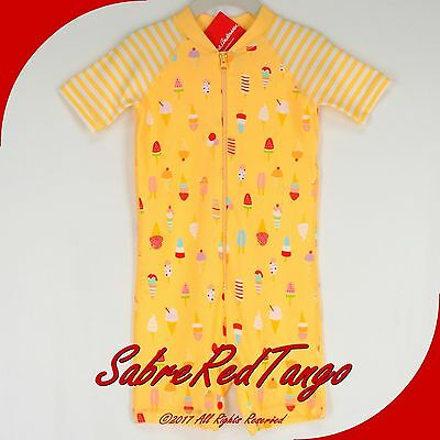 Nwt Hanna Andersson Swimmy Rash Guard Baby Swim Suit Butter Yellow 75 12-18 M