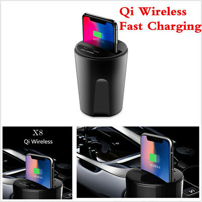 Car Cup Wireless Charging Transmitter For QI Standard Device iPhone 8 X/Samsung