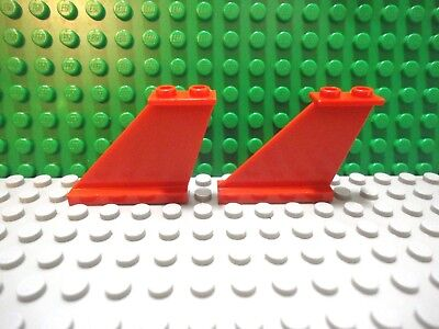 Blue 2 ~ 2x6x4 Medium Azur Airplane Tail Support ~ Lego  ~ NEW