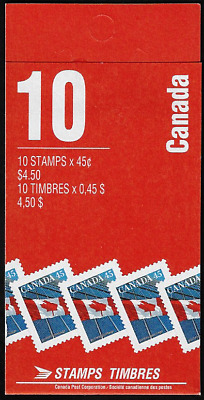 Canada Stamps — Booklet Pane of 10 — 1998, Flag over Building #1362a (BK205) MNH