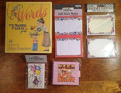 Mary Engelbreit Gift Lot, Self Stick Notes, Photo Album, Cards, Words Book