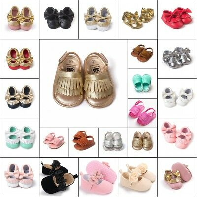 0-18 M Kids Baby Boy Girl Tassel Soft Sole Leather Shoes Child Toddler Moccasin