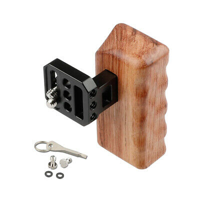 CAMVATE Wooden Handle Grip Left Hand Mount for DSLR Camera DV Video Cage Rig