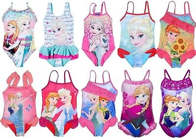 Girls Children Disney Frozen Swimsuit Swimming Costume Swimwear age 4-10 years