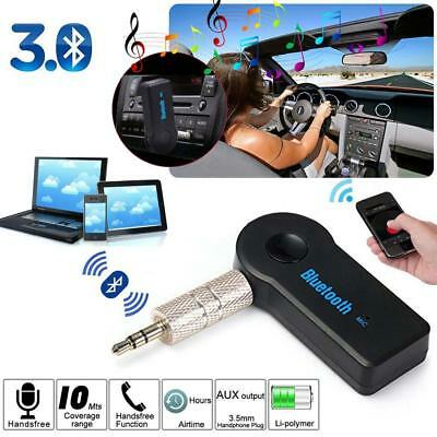 1x Wireless Bluetooth 3.5mm AUX Audio Stereo Music Home Car Receiver Adapter