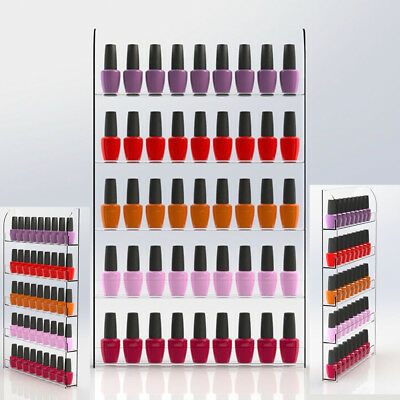 5 Tier Nail Polish Rack Organizer Acrylic Wall Mounted Stand Display Holder Shel
