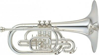 YAMAHA YMP-204MS Marching Mellophone Silver-plated (o264)
