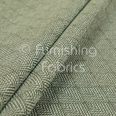 Flame Treated Semi Plain Chenille Textured Silver Furniture Upholstery Fabric