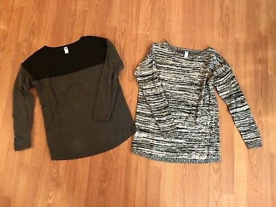 Old Navy Maternity Sweaters Lot- Black Gray- Sz S/M Loose Fit Casual