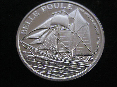 "Mds Usa Feinsilber Medaille ""great Seal Of The United States - Belle Poule""  #34"