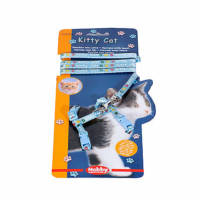LIQUIDACIÓN Nobby Kitty Cat Arnés Con Correa Gato Color Azul Arnes Set Mascota